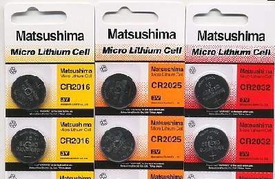 Importador de Pilas CR2016-2025-2032 Matsushima Distribuidor de pilas, relojes, baterias