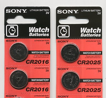 Importador de Pilas CR2016 -  CR2025 -  CR2032 Sony Distribuidor de pilas, relojes, baterias
