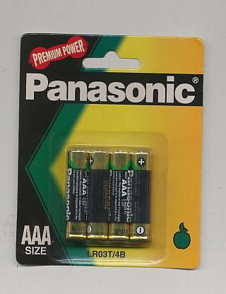 Importador de Pilas LR03T Panasonic Distribuidor de pilas, relojes, baterias