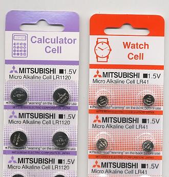 Importador de Pilas LR1120 -  LR41 Mitsubishi Distribuidor de pilas, relojes, baterias