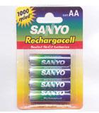 Importador de Pilas Sanyo recargable AA 700 Sanyo Distribuidor de pilas, relojes, baterias
